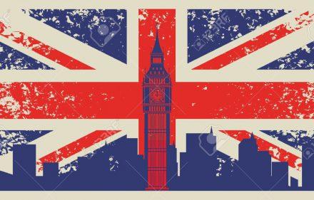 20659669-Bandera-de-Gran-Breta-a-y-el-Big-Ben-en-Londres-Foto-de-archivo