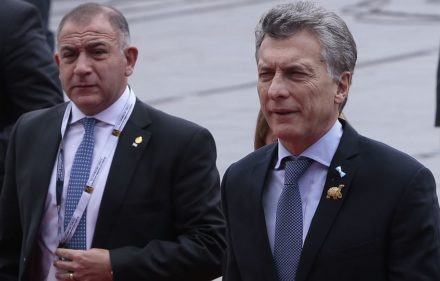 zzzzinte1Argentine President Mauricio Macri arrives at the National Assembly in Quito on May 24, 2017 to attend Ecuadorean new President Lenin Moreno's inauguration ceremony. / AFP PHOTO / Juan Cevalloszzzz