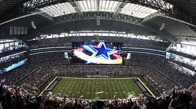 ARLINGTON, TX - JANUARY 04:  A general view before the start of the NFC Wild Card Playoff game between the Dallas Cowboys and the Detroit Lions at AT&T Stadium on January 4, 2015 in Arlington, Texas.  (Photo by Sarah Glenn/Getty Images)