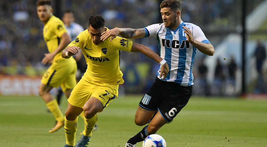 Buenos Aires: Boca recibe a Racing en La Bombonera, e igualan a 0 en un partido válido por la 9na. fecha de la Superliga. Foto: Alejandro Santa Cruz/Télam/CF 19/11/2017