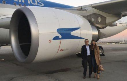 zzzznacp2 NOTICIAS ARGENTINAS MADRID, FEBRERO 25: El presidente Mauricio Macri emprendió esta tarde el viaje de regreso a la Argentina luego de haber finalizado la visita de Estado que realizó a España.  Foto NA zzzz