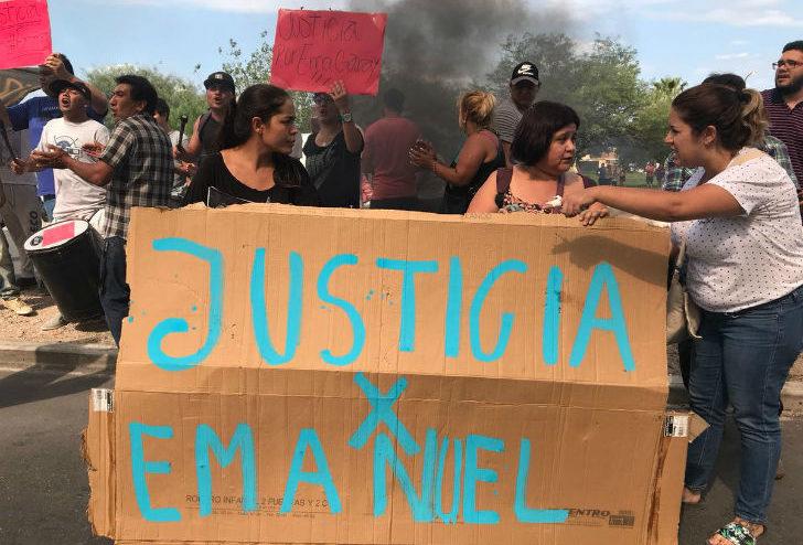 familiares-y-amigos-de-emanuel-garay-protestaron-frente-a-la-escuela-de-policia