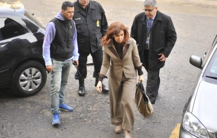 Cristina Fernandez de Kirchner ingresa en los tribunales de Comodoro Py. 13.08.2018 Foto Maxi Failla