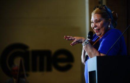 03-09 La diputada Elisa Carrio en la reunión de CAME. Foto: Andrés D'Elia