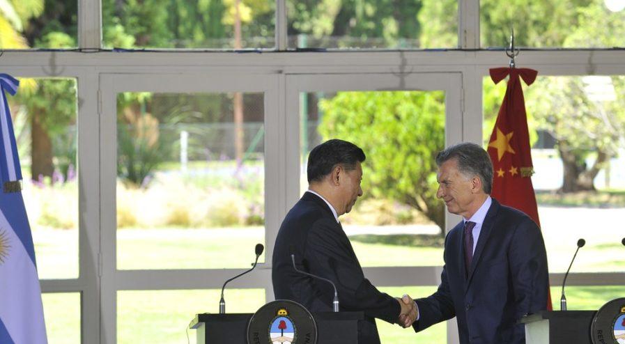 Xi Jinping de China junto al presidente Mauricio Macri de Argentina en la quinta de Olivos. 02.12.2018 Foto Maxi Failla