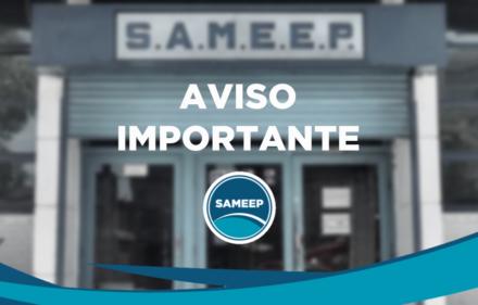 SAMEEP - AVISO IMPORTANTE
