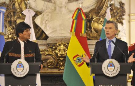 El presidente de Argentina Maurico Macri recibe al presidente de Bolivia Evo Morales en Casa de Gobierno.  22.04.2019 Foto Maxi Failla