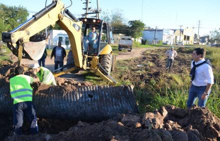 Trabajos de Equipo Hábitat Desagües en Villa Elba. (1)