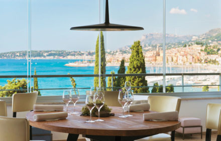 Chef Mauro colagreco at Restaurant Mirazur in Menton south of France