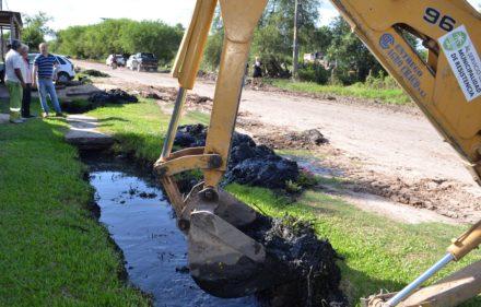 Desagües en San Antonio.